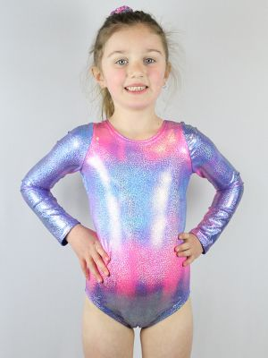 Candy Sparkle Leotard/One Long Sleeve Piece Youth Girls