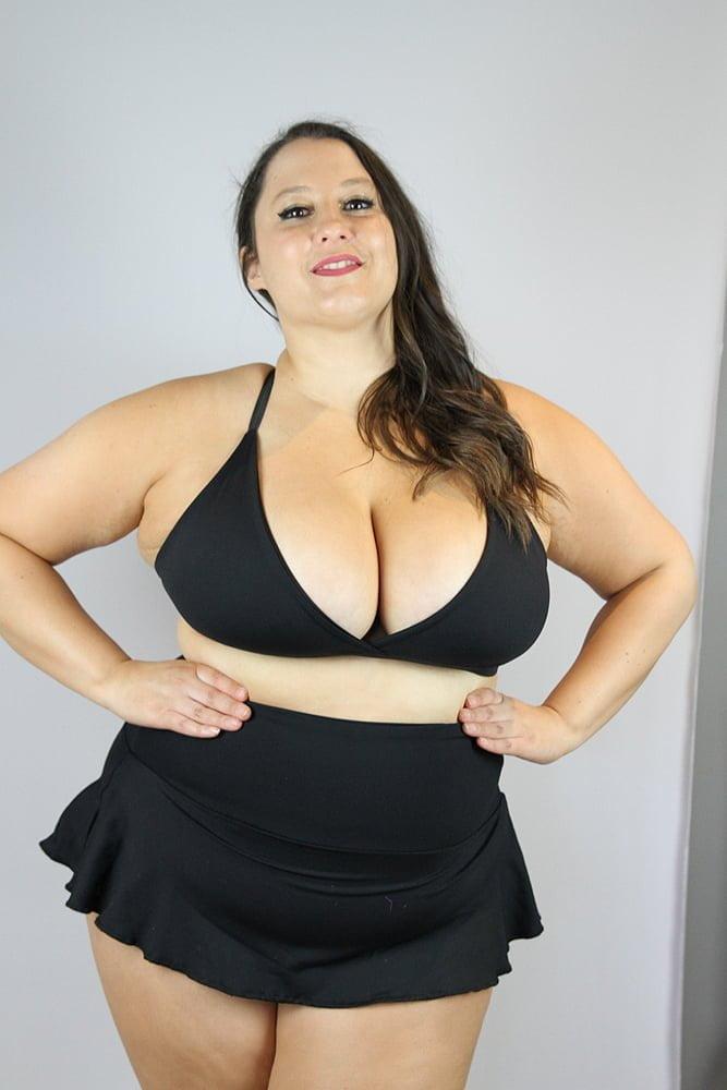 Matte Black Bikini Bra - Plus Size