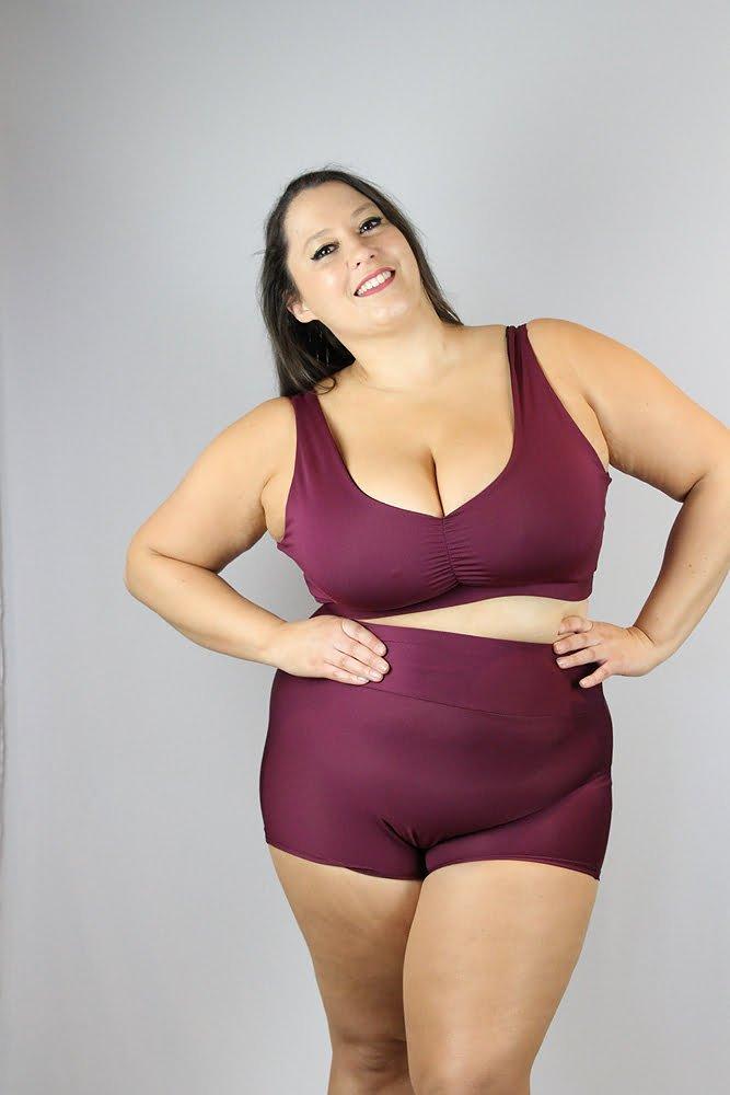 Rarr fig Sweet Scoop Sports Bra - Plus Size