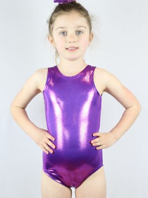 Rarr designs Purple Sparkle Leotard/One Sleeveless Piece Youth Girls