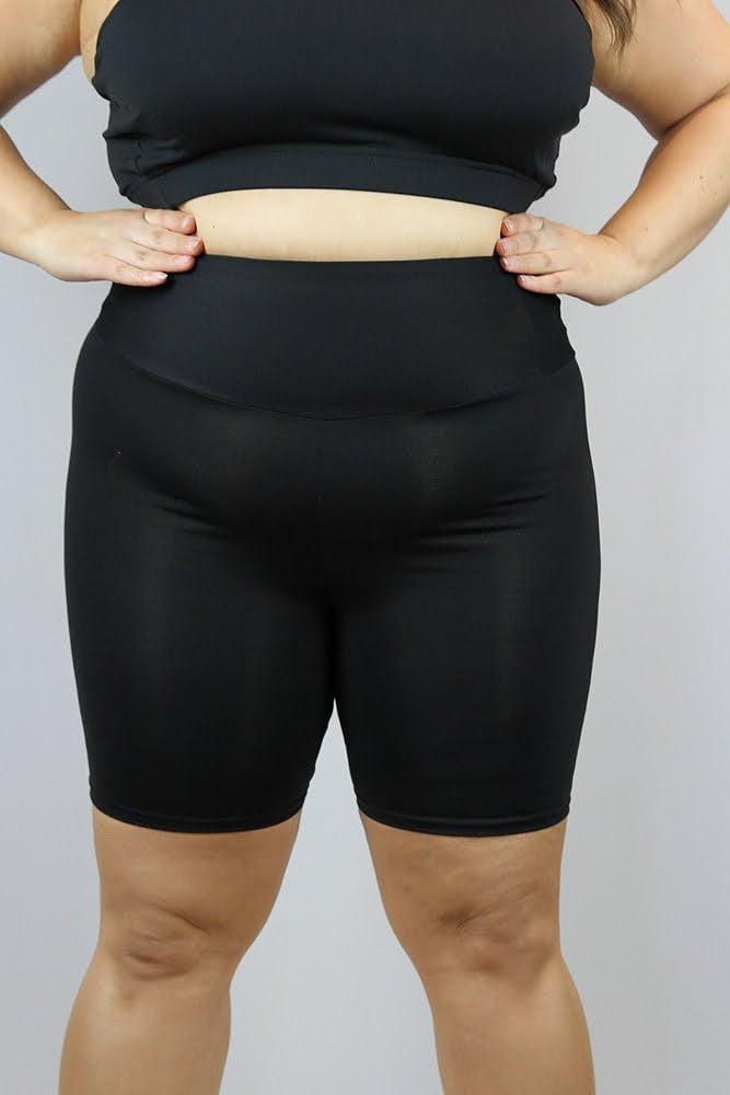 Matte Black Bike Short - Plus Size