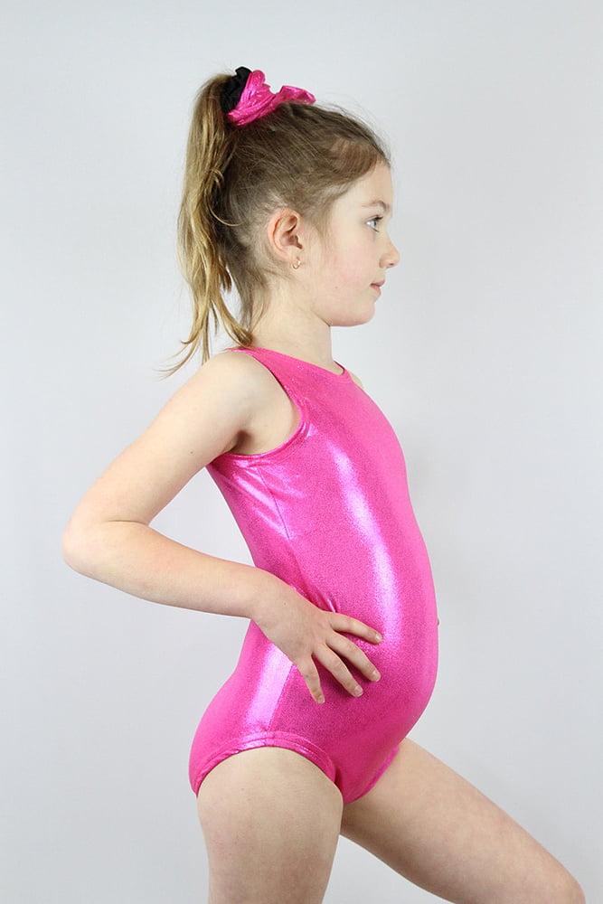 Rarr designs Pink Sparkle Leotard/One SleevelessPiece Youth Girls