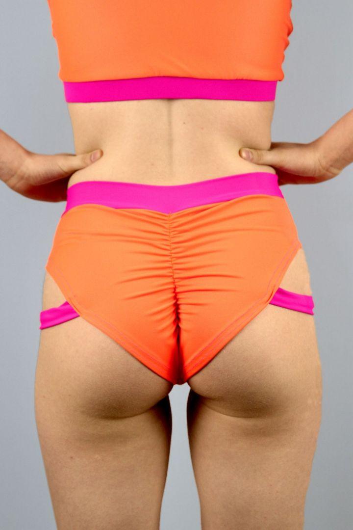 Sunkist Strap High Cut BRAZIL Scrunchie Bum Shorts