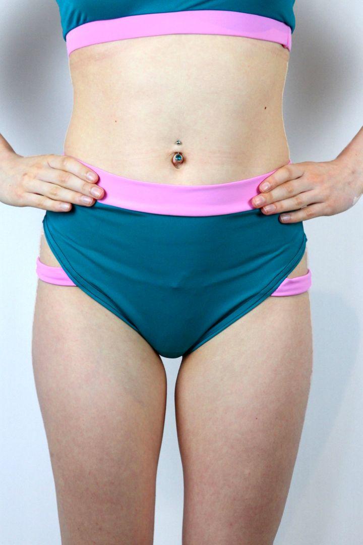 Sorbet Strap High Cut BRAZIL Scrunchie Bum Shorts