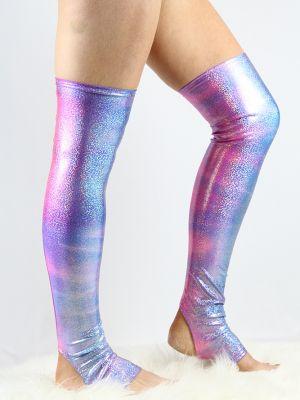 Candy Sparkle Extra long Stirr-up Spandex Legwarmers/ Knee High Socks