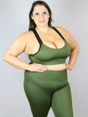 Rarr designs Olive Full Length Leggings/Tights - Plus Size