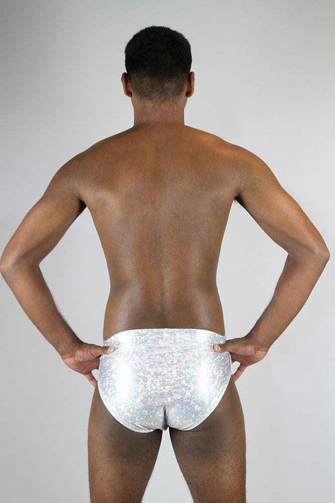 Rarr designs White Sparkle Men's Pole Brief