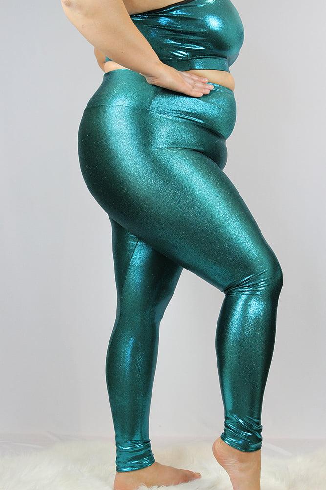 Rarr designs Jade Sparkle Full Length Leggings/Tights - Plus Size