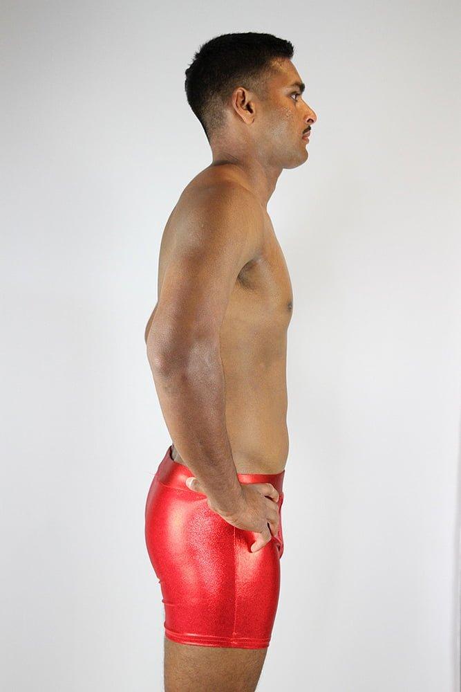 Rarr designs Red Sparkle Men's Pole Short
