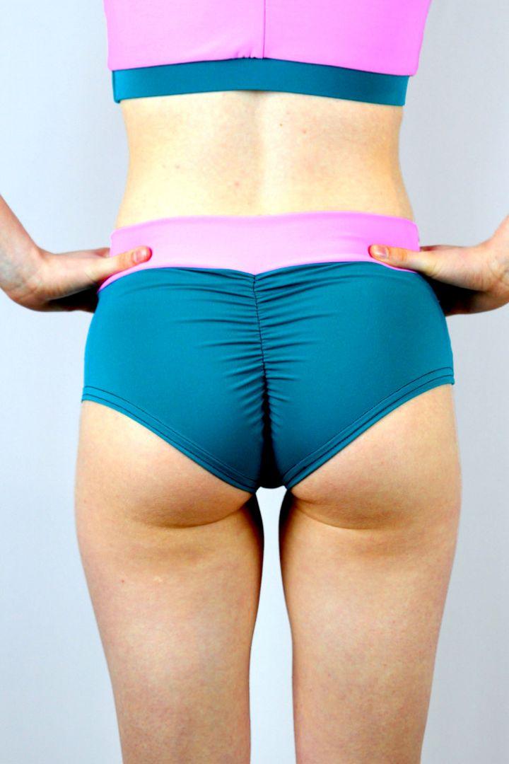 Sorbet High Waisted BRAZIL Scrunchie Bum Shorts