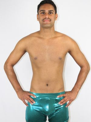 Jade Sparkle Men's Trunk