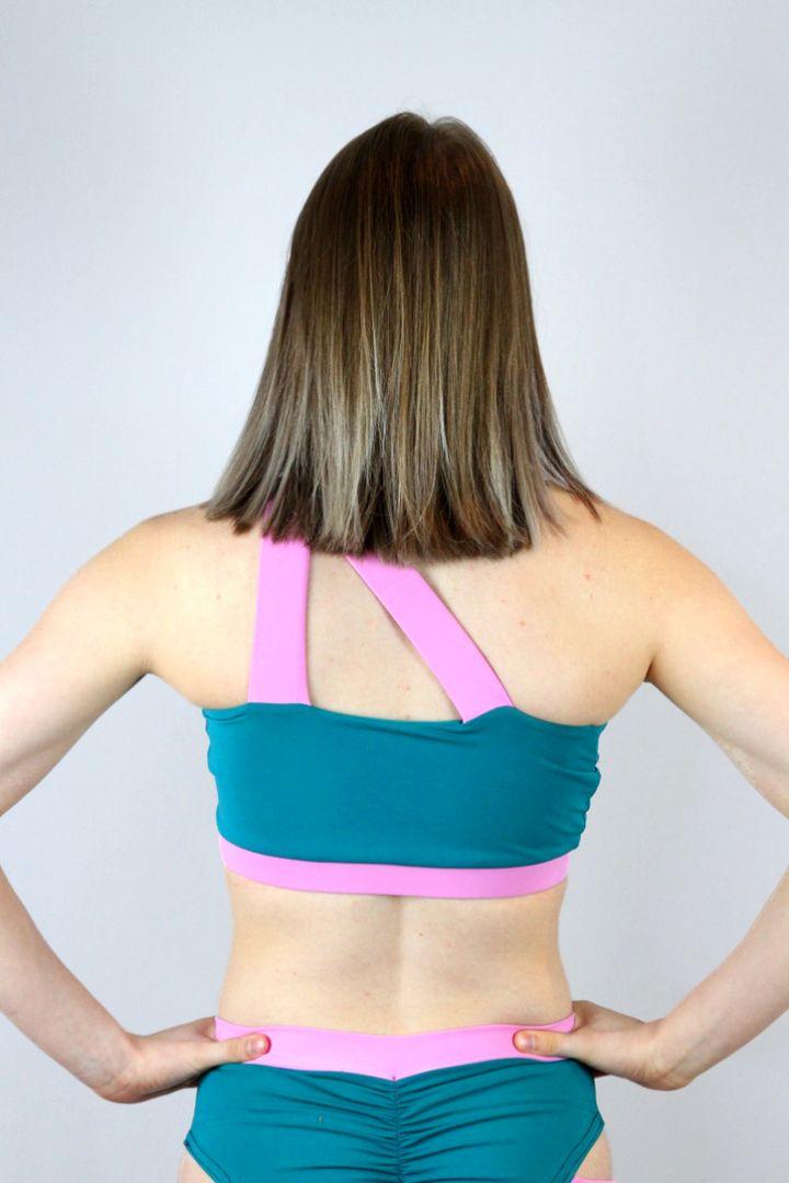 Sorbet One Shoulder Sports Bra