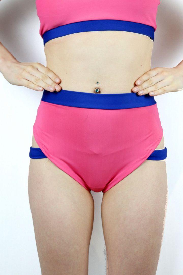 Bubblegum Strap High Cut BRAZIL Scrunchie Bum Shorts