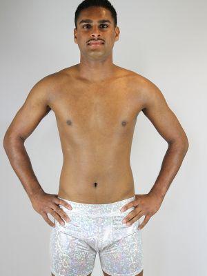Rarr designs White Sparkle Men's Pole Short