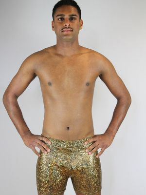 Rarr designs Gold Shattered Men's Pole Short