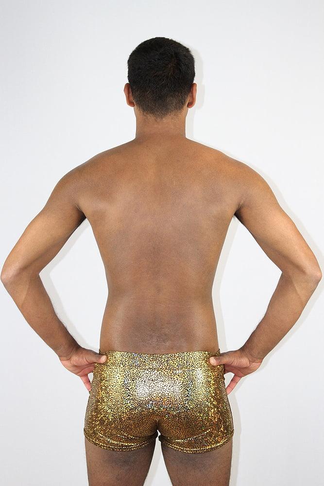 Gold Shattered Men's Trunk