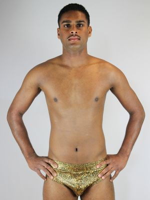 Rarr designs Gold Shattered Men's Pole Brief