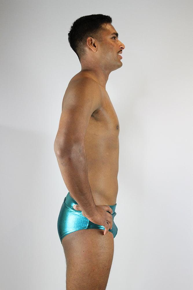 Rarr designs Jade Sparkle Men's Pole Brief